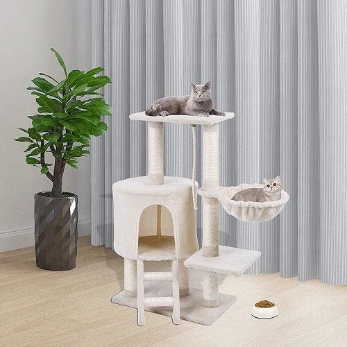 MC Star árbol para gato con hamaca juguete de gato