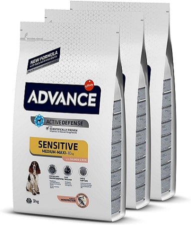 Pienso para perros Advance Active Defense Sensitive Medium Maxi