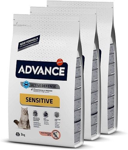 Pienso para gato adulto Advance Active Defense Sensitive