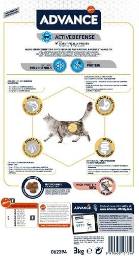 Alimento seco para gato adulto Advance Active Defense Sensitive