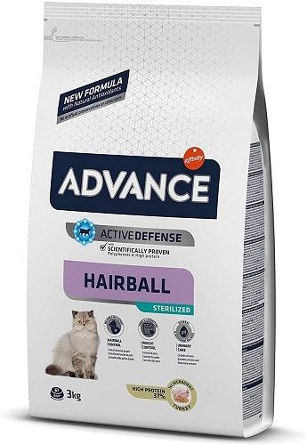 Pienso para gato Advance Active Defense Hairball Sterilized