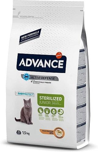 Pienso para gato Advance Active Defense Sterilized Junior