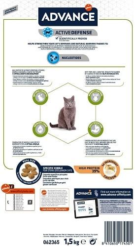 Alimento seco para gato Advance Active Defense Sterilized Junior
