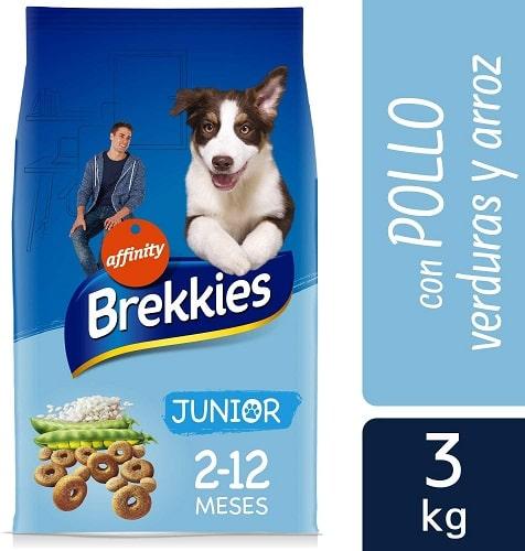 Alimento seco para perros Brekkies Junior