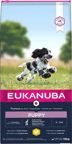 Alimento seco Eukanuba para perros cachorros razas medianas