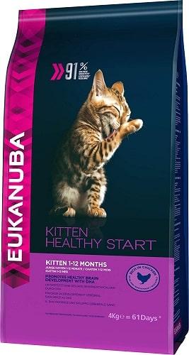 Pienso para gatos kitten Eukanuba Healthy Start