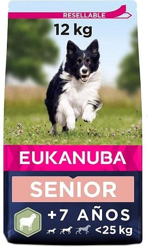 Pienso Eukanuba para perros senior raza pequeña y mediana