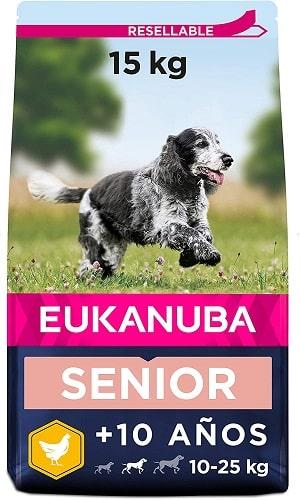 Pienso para perros Eukanuba Senior razas medianas