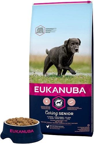 Alimento seco Eukanuba para perros senior razas grandes