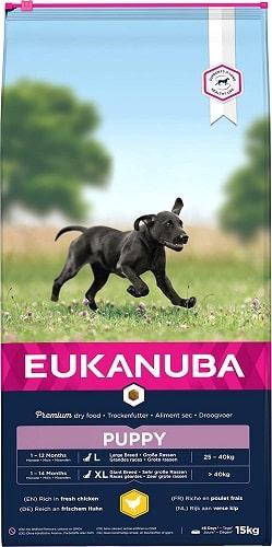 Alimento seco Eukanuba para perros puppy razas grandes