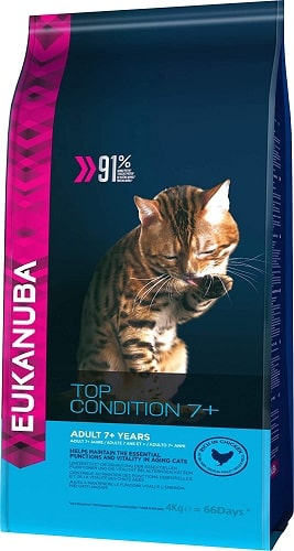 Pienso para gatos senior Eukanuba