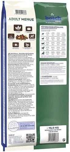 Alimento seco para perros Bosch HPC Adult Menue con hierbas valiosas