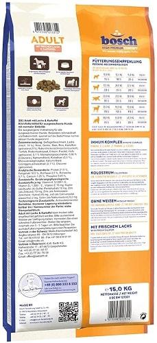 Alimento seco para perros Bosch HPC Adult con salmón fresco y patata