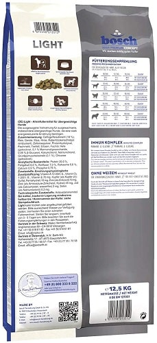 Alimento seco para perros Bosch HPC Light con mejillones