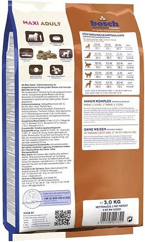 Alimento seco para perros Bosch HPC Maxi Adult con mejillones