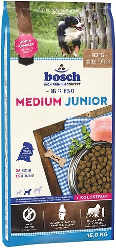 Pienso para perros junior Bosch HPC Medium Junior con mejillones
