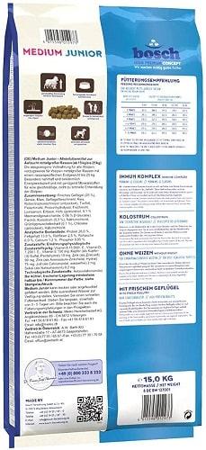 Alimento seco para perros junior Bosch HPC Medium Junior con mejillones