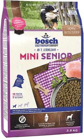 Pienso para perros senior Bosch HPC Mini Senior con mejillones