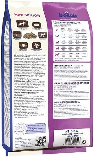 Alimento para perros senior Bosch HPC Mini Senior con mejillones