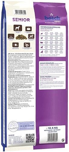 Alimento seco para perros senior Bosch HPC Senior con mejillones