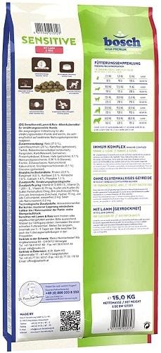 Alimento seco para perros Bosch HPC Sensitive con cordero y arroz