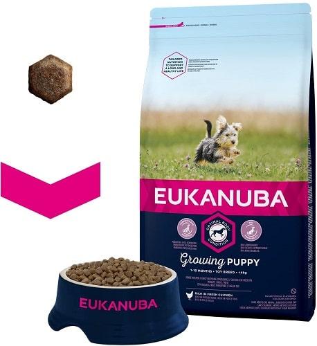 Alimento seco para perros cachorro Eukanuba Growing Puppy Yorkshire