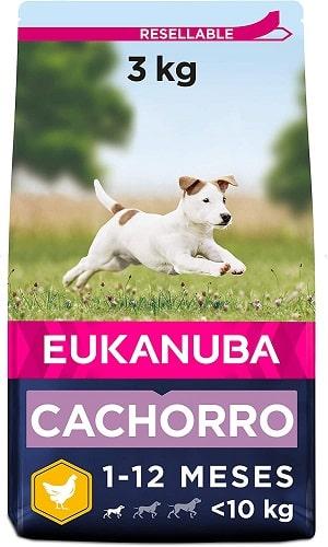 Pienso para perros Eukanuba cachorro de razas pequeñas