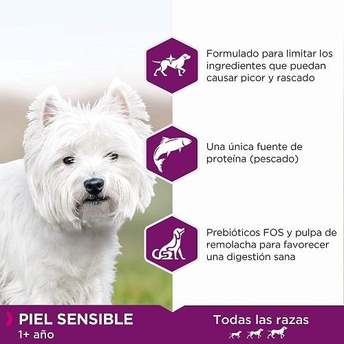 Pienso para perros Eukanuba Daily Care piel sensible todas las razas