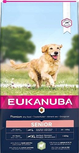 Alimento seco para perros Eukanuba senior de razas grandes