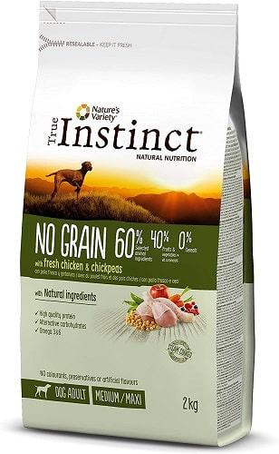 Pienso para perros True Instinct No Grain Medium Maxi con pollo