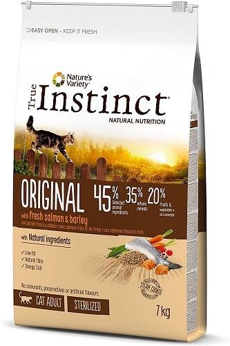Pienso para gatos adultos esterilizados True Instinct Original