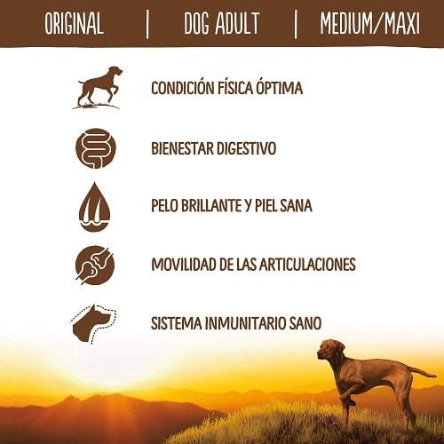 Bienestar digestivo para perros True Instinct Original Medium Maxi