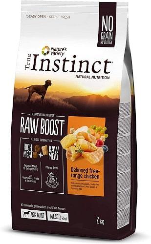 Pienso para perros True Instinct Raw Boost con pollo