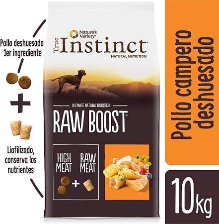 Alimento seco para perros True Instinct Raw Boost con pollo