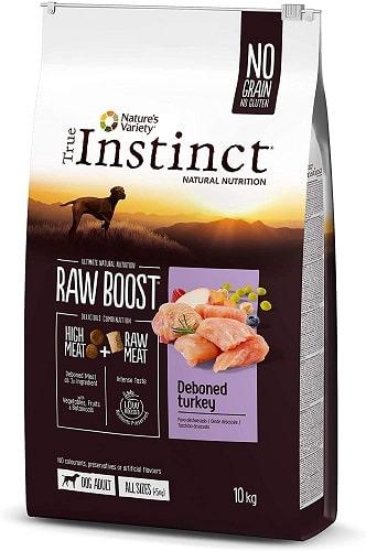 Pienso para perros True Instinct Raw Boost con salmón