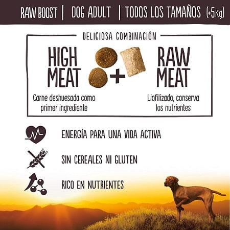 True Instinct Raw Boost para perro Hight Meat + Raw Meat