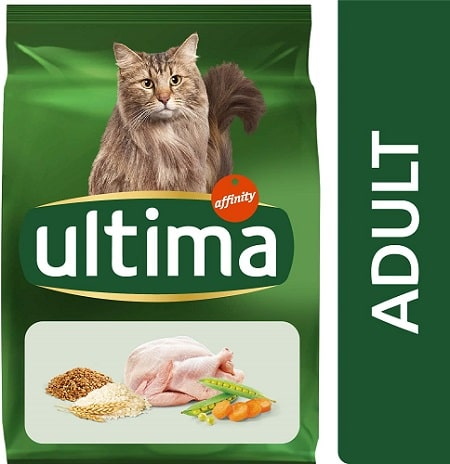 Alimento seco para gatos Ultima Adult con pollo
