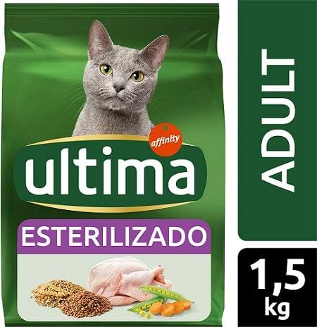 Alimento seco para gatos Ultima Esterilizado Adult con pollo