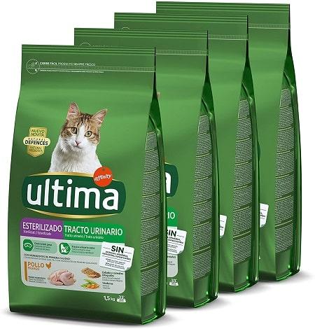 Pienso para gatos Ultima Esterilizado Tracto Urinario con pollo