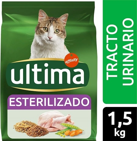 Alimento seco para gatos Ultima Esterilizado Tracto Urinario con pollo