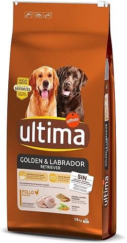 Pienso para perros Ultima Golden Labrador Retriever
