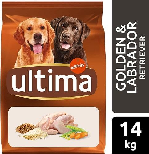 Alimento seco para perros Ultima Golden Labrador Retriever