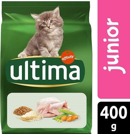Alimento seco para gatos Ultima junior con pollo