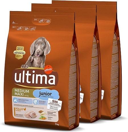 Pienso para perros Ultima Medium Maxi Junior