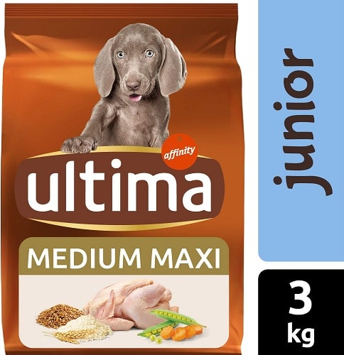 Alimento seco para perros Ultima Medium Maxi Junior