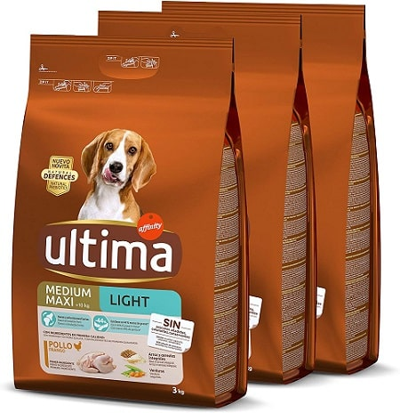 Pienso para perros Ultima Medium Maxi Light
