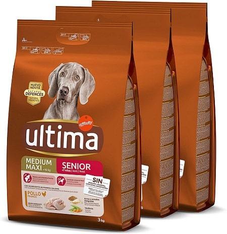 Pienso para perros Ultima Medium Maxi Senior