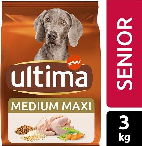 Alimento seco para perros Ultima Medium Maxi Senior