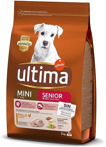 Pienso para perros Ultima Mini Senior