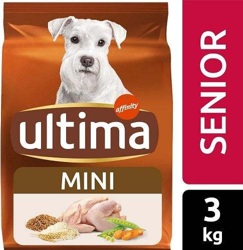 Alimento seco para perros Ultima Mini Senior